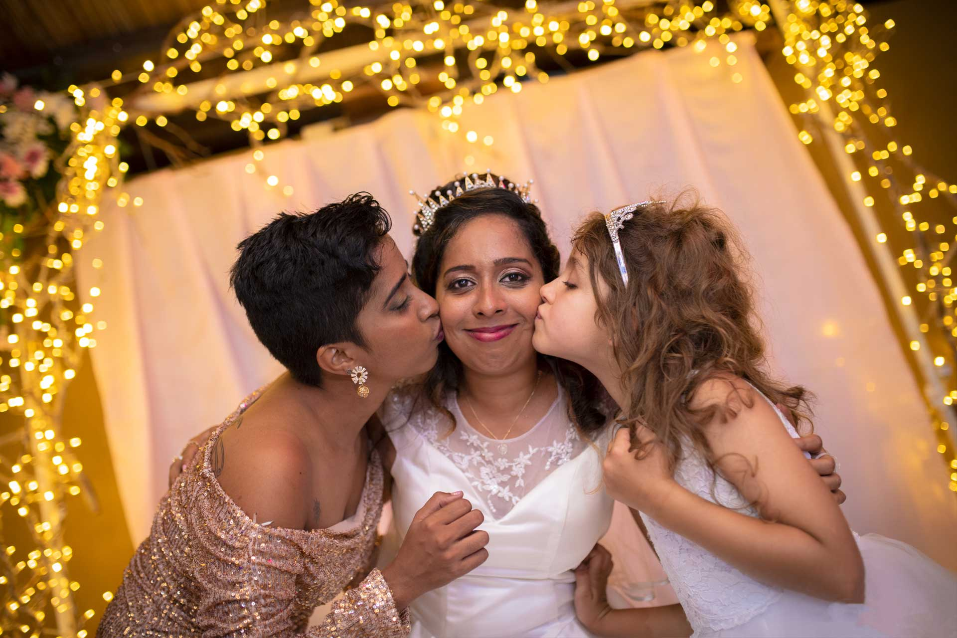 Bride love family